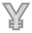 Sign of money yen icon black monochrome style vector image vector image