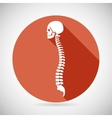 Skull and Spine Icon Symbol Concept Flat Design vector image vector image