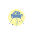 space ship space ship rocket alien glyph icon vector image