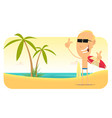 summer beach vacations banner vector image