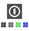 switch flat icon vector image vector image