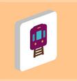 train tram computer symbol vector image