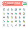 transport and vehicles icons vector image