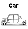 Transport collection of car hand draw vector image vector image