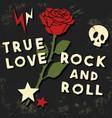 true love t shirt print vector image vector image