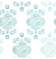 vertical flowerly tiles in white and turquoise vector image
