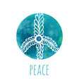 watercolor background with peace sign music and vector image vector image