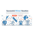 web site header - successful winter vacation vector image