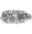 what should you know about religious diets text vector image vector image