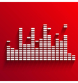 White digital equalizer background on red vector image vector image