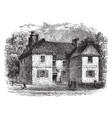 william penns house vintage vector image vector image