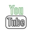 youtube ii vector image vector image