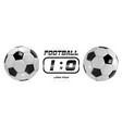 soccer or football white banner with 3d ball and vector image