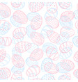 beautiful seamless pattern of doodle easter eggs vector image