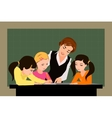 Teacher and pupils in the classroom vector image