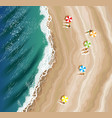 top view of beach vector image