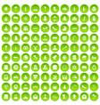 100 church icons set green circle vector image vector image