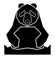 abstract low poly panda icon vector image vector image