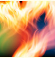 abstract rainbow fire background vector image vector image