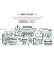 Add to Cart - line design website banner temlate vector image vector image