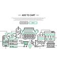 add to cart - line design website banner template