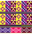 african tribal kente cloth style pattern vector image