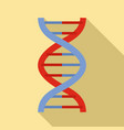 alzheimer dna disease icon flat style vector image vector image