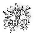 back to school black and white comic retro vector image vector image