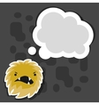 Background with little angry virus or monster vector image vector image