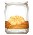 Bag of butter cookies vector image vector image