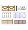 balcony fence set vector image