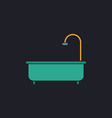 Bathtub computer symbol vector image vector image