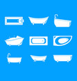bathtub interior icons set simple style vector image vector image
