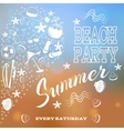 Beach party White letters and symbols vector image
