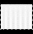 black and white rectangle border made of animal vector image