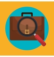 Business briefcase icon graphic vector image vector image