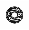 Chocolate donut icon simple style vector image vector image