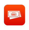 circus show tickets icon digital red vector image vector image