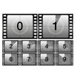 countdown frames classic old film movie timer vector image