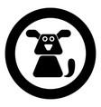 dog icon black color simple image vector image