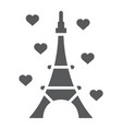 eiffel tower glyph icon france and paris vector image vector image
