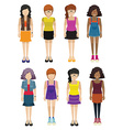 Faceless ladies wearing fashionable dresses vector image vector image