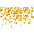falling from top a lot euro gold coins vector image