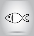 fish sign icon in flat style goldfish on isolated vector image vector image