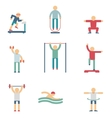 Fitness people color icons vector image