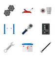flat icon service set of automatic transmission vector image vector image