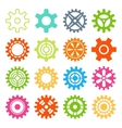 Gear icons isolated vector image vector image