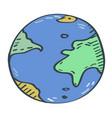 globe cartoon vector image vector image