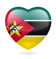 Heart icon of Mozambique vector image vector image