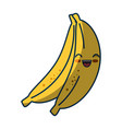 kawaii bananas fruits icon